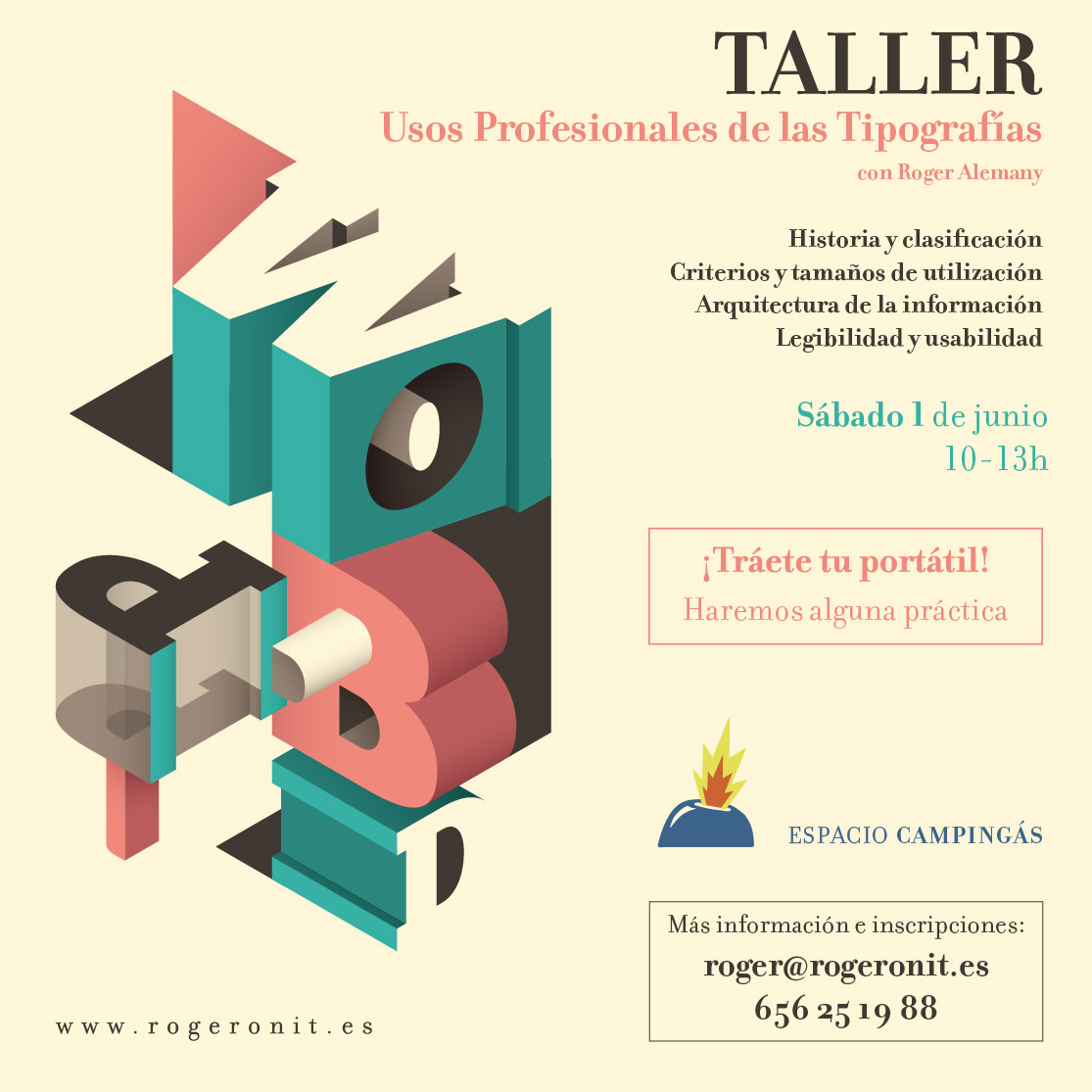tipografia taller workshop workspace coworking almeria